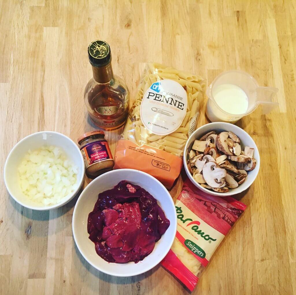 FleurFood kippenlever pasta